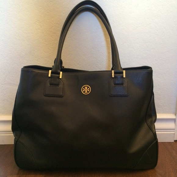47% off Tory Burch Handbags - Tory Burch Large Black Robinson ...