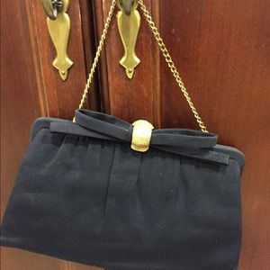 Vintage AFTER FIVE 5 1950s Chain Purse w/ Coin