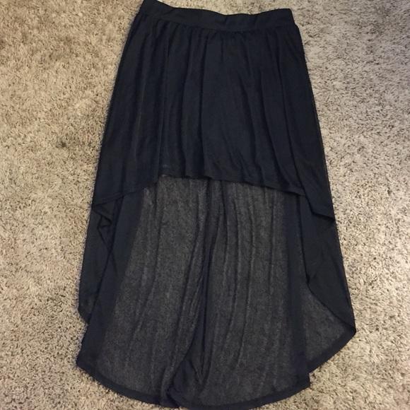 40 central dresses skirts black sheer high