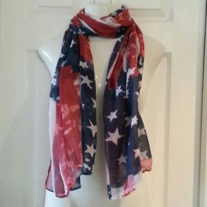 Accessories - USA American Flag Scarf Rugged pattern