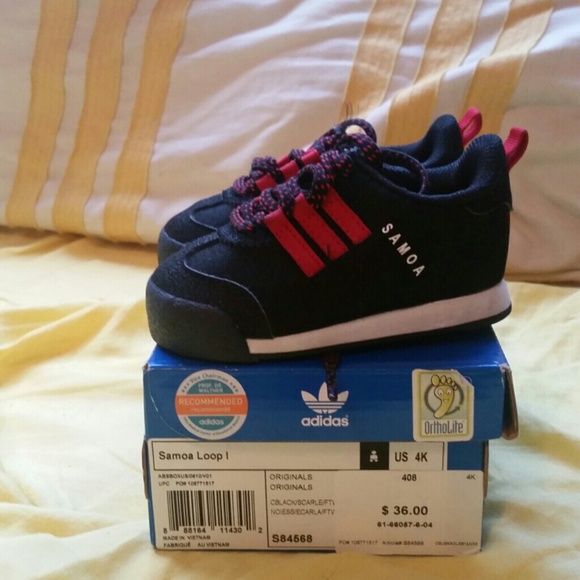 Adidas Shoes - Infant Boy Black Red Adidas Samoa 1c70bcd61ecc