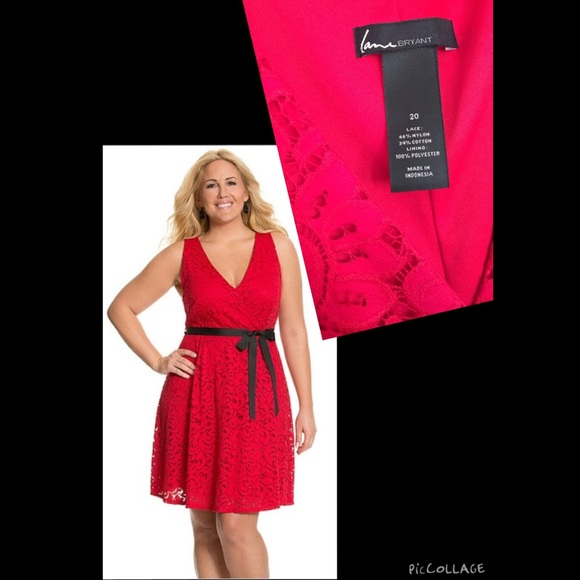 731c28ba815 Lane Bryant Dresses   Skirts - Red Lace Lane Bryant Dress