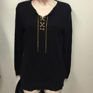 NWT Black MK Sweater Top