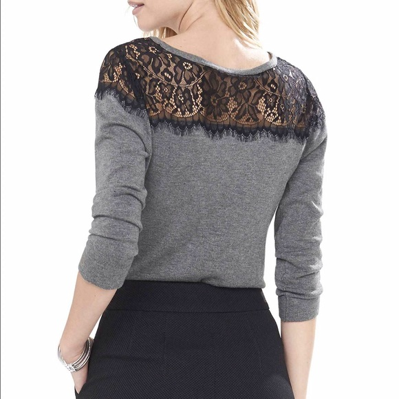 68% off Express Tops - Black express knit lace sweater from ...