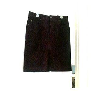 Cute burgundy corduroy skirt. NWT never worn.