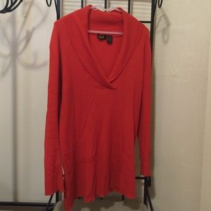 Alala Sweaters - Burnt Orange, Longed Sleeved Ribbed Sweater