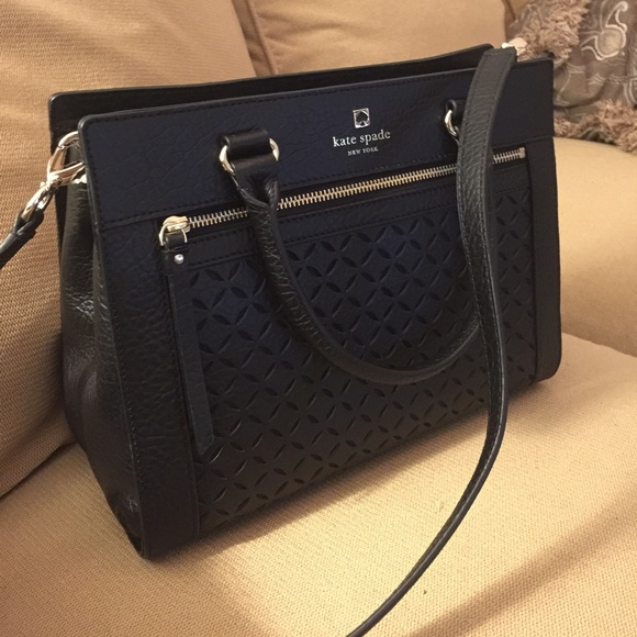 Kate Spade Bags Romy Perri Lane Bubbles Leather Black
