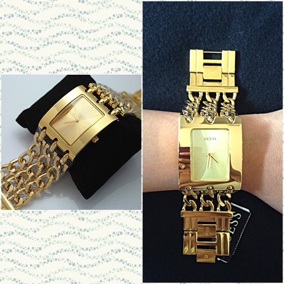 💋Authentic Guess Ladies Gold Chain Watch💋 a79fa092d88