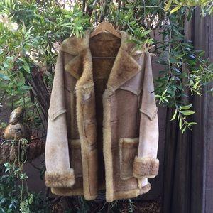 Vintage Ardney 100% Virgin Wool Shearling Coat