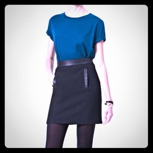 French Connection Winter Black Skirt