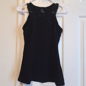 H&M Tops - Lace High neck tank