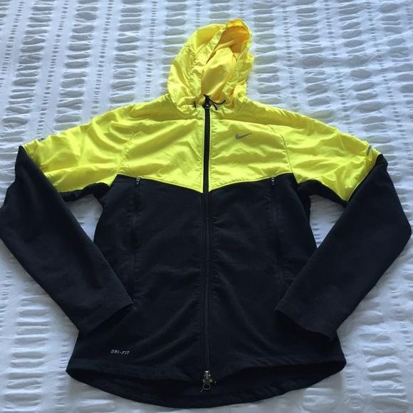 1eef4dfaf Nike Jackets & Coats | Neon Black Running Jacket | Poshmark