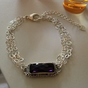 Sterling Jewelry - Sterling and Amethyst Bracelet