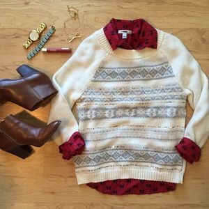 Old Navy Sweaters - Old Navy Fair Isle Sparkle sweater