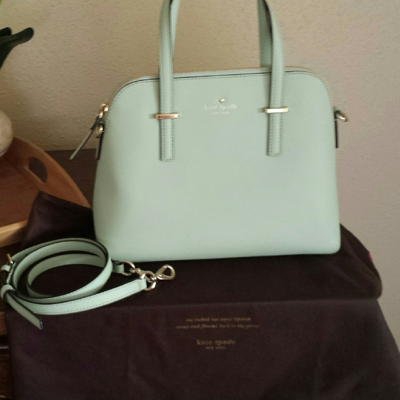 4% off kate spade Handbags - RARE NEW Kate Spade Mint Green Cedar ...