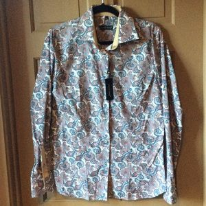 Jared Lang Tops - NWT Paisley Shirt
