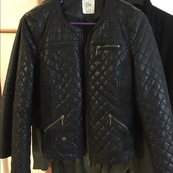 Zara Faux Leather Quilted Jacket Red Cairoamani Com