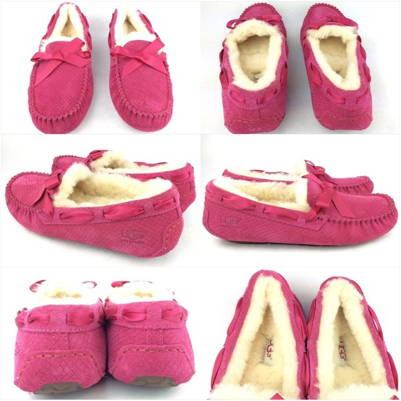 Pink Ugg Moccasin Slippers