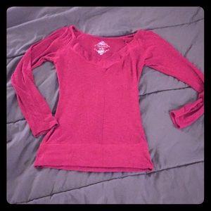 Tops - Pink Ribbed Shirt