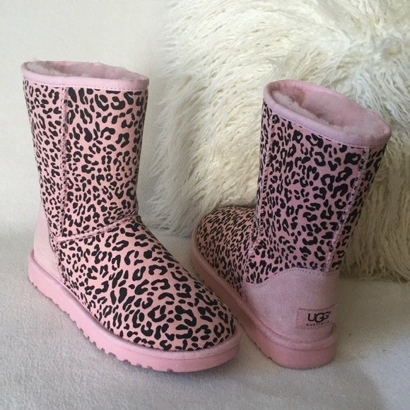 ugg shoes | brand new suede pink leopard print boots | poshmark