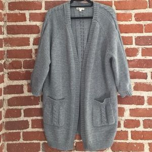 Cotton Candy Gray Thick Cardigan