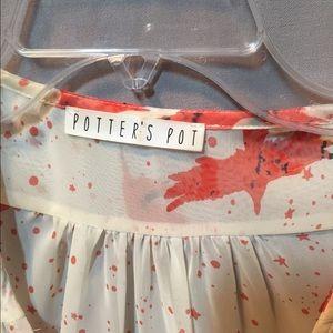 Potter's Pot Tops - SALE!!  sheer tie front blouse