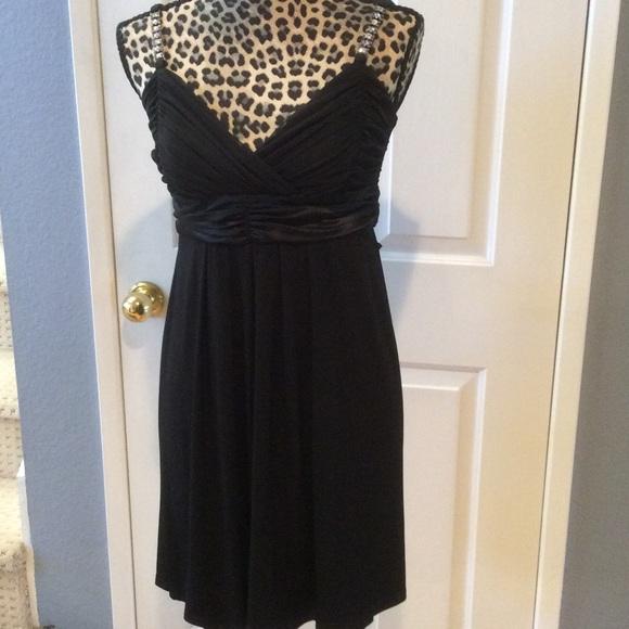 City Triangles Dresses Little Black Dress With Rhinestone Straps