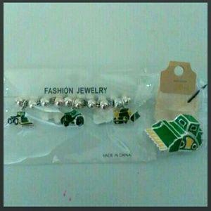 John Deere Jewelry - 💖 John Deere Bracelet Pin Jewelry Country Girl Tr