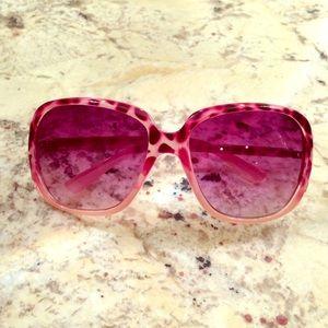 Steve Madden - Pink Leopard Sunglasses