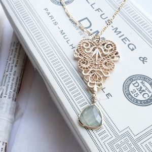 gilded lace necklace