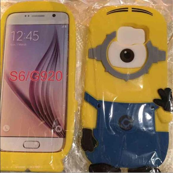 designer fashion 3d4a0 37896 Minion case cover rubber for Samsung galaxy S6 NWT