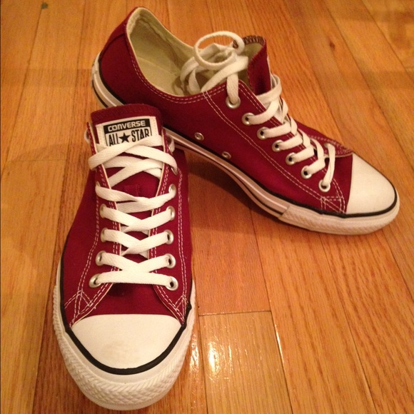 88c376239eebf2 Converse Shoes - Burgundy Converse All Star Size 11 women 9 men
