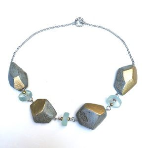 Jewelry - Handcrafted concrete statement necklace