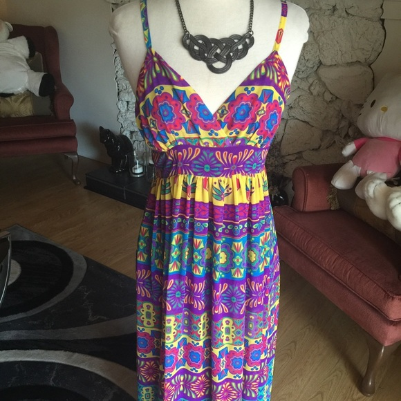Dress with mardi gras colors