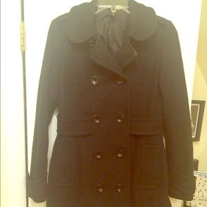 Jackets & Blazers - Adorable black wool double breasted jacket size 8