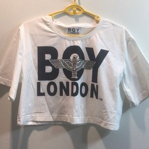 boy london Tops - BOY LONDON LOGO CROP TEE