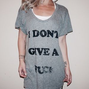 "Urban Outfitters Tops - URBAN OUTFITTERS ""I DON'T GIVE A F***"" DEEP V TEE"