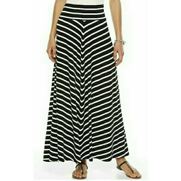 33 ab studio dresses skirts black and white maxi