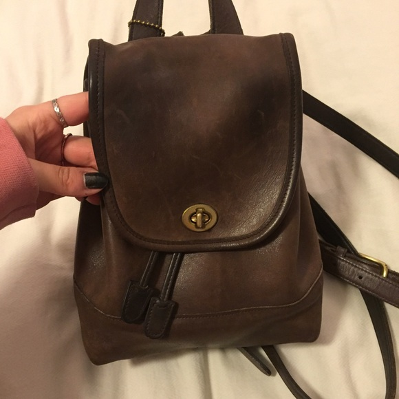 c4a112f8946 Coach Bags   Authentic Vintage Mini Leather Backpack   Poshmark