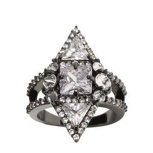 Metal glass stones ring (ae)