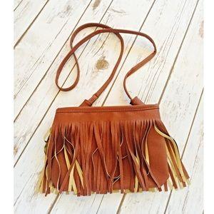 HOST PICKCamel Fringe Vegan Leather Bag
