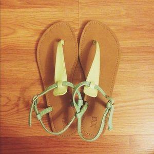 F21 Seafoam green sandals
