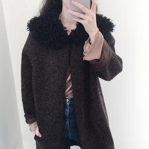 Maxstudio fur collar coat