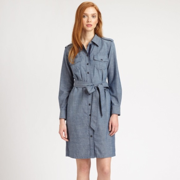3d665f0788a Tory Burch Brigitte Cotton Chambray Shirtdress. M 56516d886802784d0a01fe80