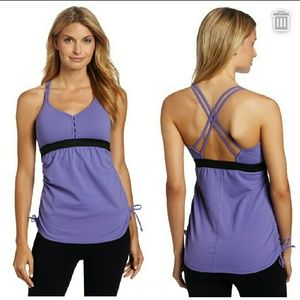 New carve designs clio athletic tank top purple xs