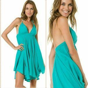 Tiare Hawaii Dresses & Skirts - New tiare hawaii montevideo teal halter dress teal