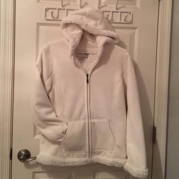 80% off Jackets & Blazers - Green Tea cozy Fleece Hooded Jacket ...