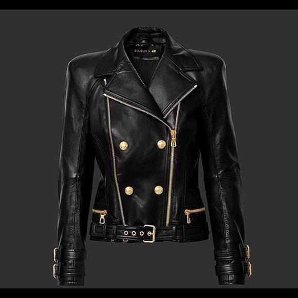 36b2f7d2dc51 Balmain Jackets & Coats | Sold On Tradesy X Hm Leather Jacket | Poshmark