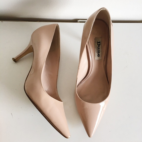ee0a4c6bcf Dune London Shoes | Dune Nude Patent Leather Pointy Toe Heels Pumps ...