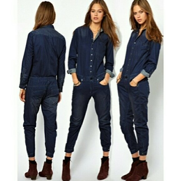 66% off Highway Jeans Pants - Dark Denim Jumpsuit from Lindsey's ...